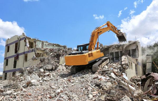 Interior Demolition of Contaminated Buildings